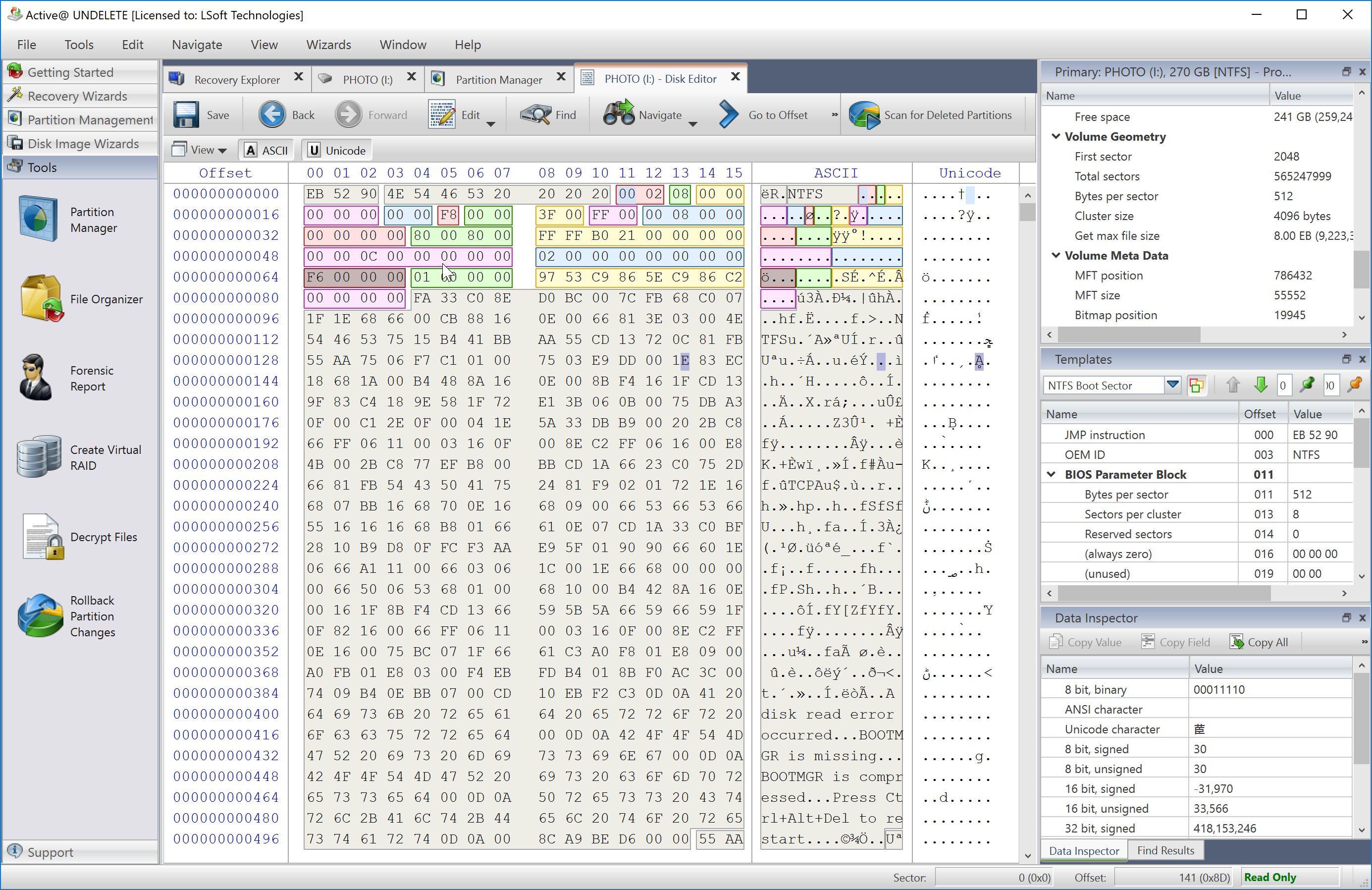 Disk Hex Editor