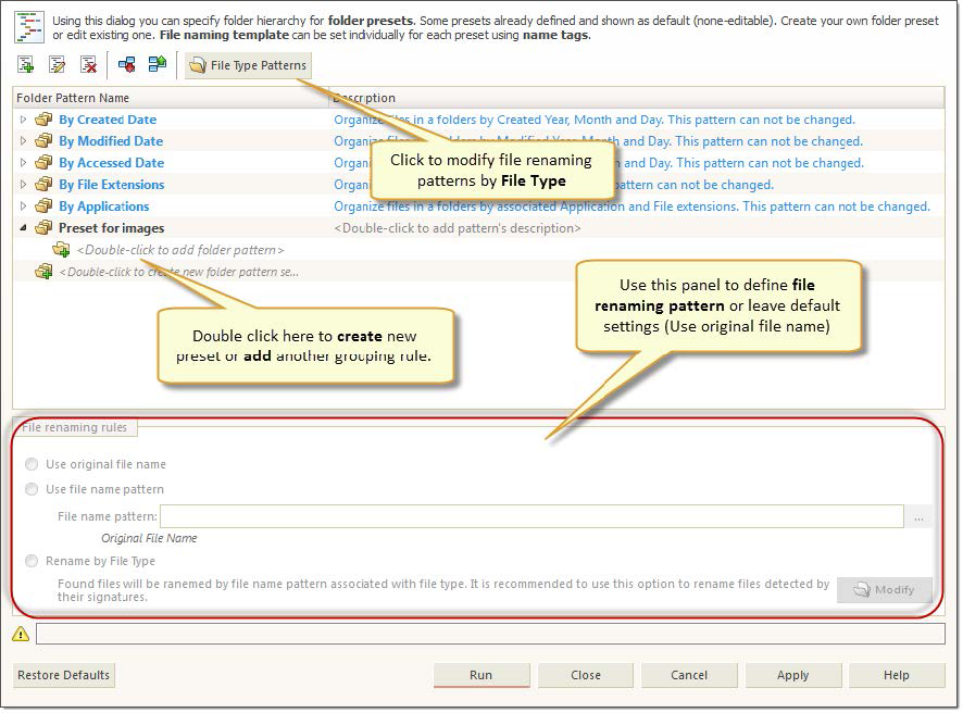 File Organizer Overview  Active@ UNDELETE